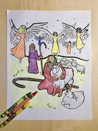Shepherds And Angels Coloring Page Childrens Ministry Deals