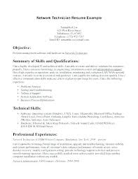 Electronic Technician Resume Electronic Technician Resume Example