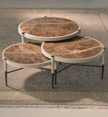 Wonderful London Collection Set Of 3 Round Coffee Tables