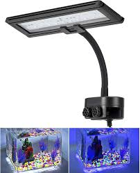 Blue Led Light Fixture Hygger Blue White Led Aquarium Light Clip On Small Led Light For Planted Saltwater Freshwater Fish Tank With Gooseneck Clamp