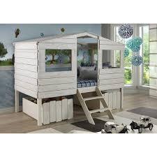 kids low loft bed.  Loft Donco Kids Tree House Rustic Grey Pine Wood Twin Low Loft Bed U2013 Comfy  Bedroom And E