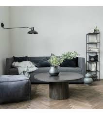 coffee table pillar black wood
