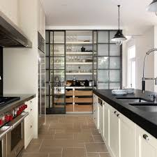 Black N White Kitchens Kith Cabinets For A Contemporary Kitchen With A Black Floors And