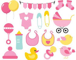 Baby Things Clipart Baby Shower Clip Art Mama Babe Party Pregnancy Clipart Etsy