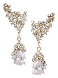 Купить <b>серьги</b> золотого цвета с белыми кристаллами <b>Herald</b> ...