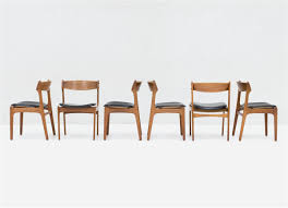 set of 6 dining chairs top design set 6 model 49 dining chairs in teak by
