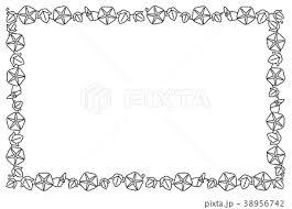 夏 夏素材 飾り罫線 罫線のイラスト素材 Pixta