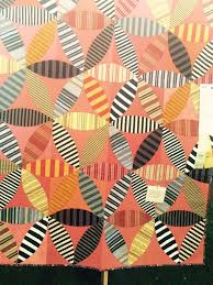 208 best Stripes & plaids in quilts images on Pinterest | Quilt ... & Striped orange peel quilt at the 2015 Sisters Outdoor Quilt Show. Photo by  Humble Quilts Adamdwight.com