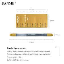 <b>UANME</b> 12Pcs IC Chip Repair Thin Blade CPU Remover 1 Metal ...