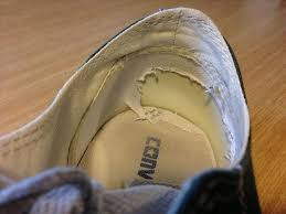 how to fix the worn out heel linings in your ragged shoes sneakers macgyver style macgyverisms wonderhowto