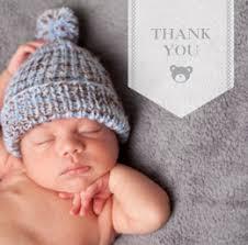 Baby Thankyou Personalised Baby Thank You Cards Photobox