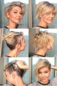 Blonde Beachy Pixie With Back And Side Undercuts Ucesy Krátke