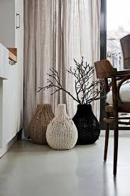 cover your vases with knit for winter