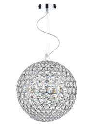 dar fiesta 12lt 90cm ball crystal fie1250 12 light 90cm pendant polished chrome