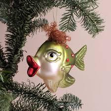 Lustige Weihnachtskugel Grüner Fisch