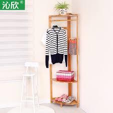 Simple Wood Coat Rack Corner corner frame wood coat rack hanger floor corner bedroom 45