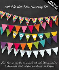 Rainbow Bunting Rainbow Graph Paper And Chevron Bunting Faire Li
