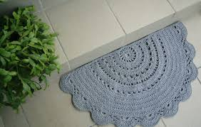 half circle cotton rug