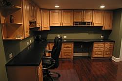 home office in basement. regardless if youu0027re looking to just create one room in your basement or an entire living and entertaining level thomas libucki home services office l