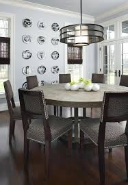 54 inches round dining table inch round dining table dining room contemporary with centerpiece crown molding dark image by design studio