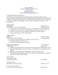 Medical Transcriptionist Cover Letter Examples Medical Transcription