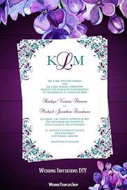 Kaitlyn Wedding Invitation Peacock Purple Teal Wedding