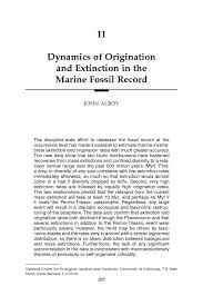 dynamics of origination and extinction in the marine fossil  page 207