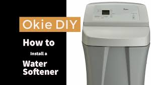 water softener installation tutorial okie diy