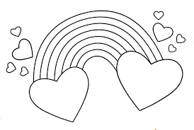 Heart coloring pages for kids. Rainbow Hearts Coloring Pages In 2021 Heart Coloring Pages Coloring Pages Rainbow Pattern Printable