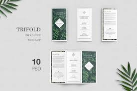 Tri Fold Brochure Layout Free Trifold Brochure Mockup On Behance