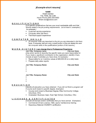 Short Resume Samples 24 Elegant Sample Of Simple Resume Format Template How To Write A 12