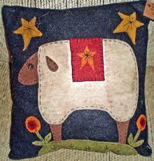 penny rug folk art sheep pillow instant e pattern vendor oley valley primitives