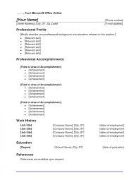 Microsoft Office Online Resume Templates Cover Letter Free Ms Word