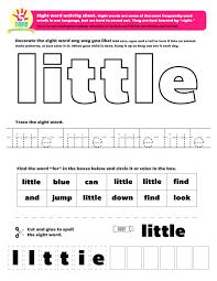 Color Word Activities For Kindergarten L L L