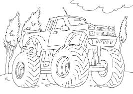 Truck Color Pages Ter Jam Truck Coloring Pages Printable To Print