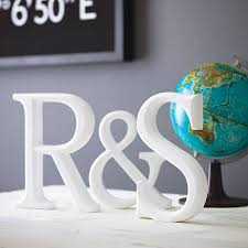 initial wooden letters design with globe and blackboard small large decorative wooden