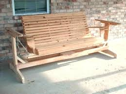 wooden porch swings picture