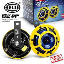 new amp genuine hella sharp tone dual car horn 118db w relay item specifics