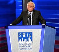 bernie sanders for president. bernie sanders speaking at the democratic national convention in philadelphia, on july 25, 2016. for president e