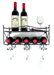 wall mount wine glass holders mango steam wall mounted wine rack with shelf and stemware glass
