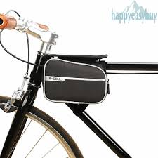 <b>Bicycle Frame</b> Pannier <b>Tube Bag</b> Double Saddle <b>Bike</b> MTB Cycling ...
