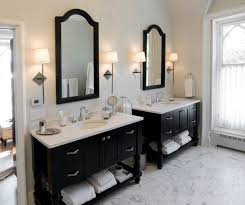 bathroom design nj. Black Cabinetry And White Marble Provides A Classic Look In This Princeton NJ Bathroom Design Nj
