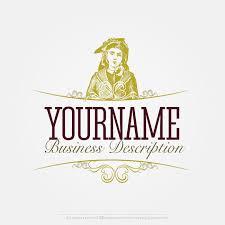 Online Logo Creator - Vintage Woman Label Logo Template | Vintage ...