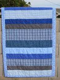 Baby Quilt: Blue and gray, stripes and plaid | Rabbit Style News & Baby Quilt: Blue and gray, stripes and plaid Adamdwight.com