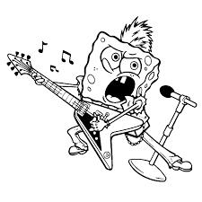 Kleurplaat Spongebob