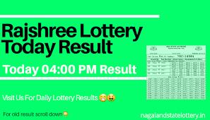 Rajshree Result Chart Rajshree Lottery Sambad Result Today 04 00 Pm Rajshree