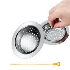 kitchen sink strainer basket. Sink Strainer Basket Kitchen Stainless Steel Drain With Handle Large Wide Rim