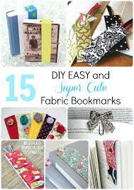 easy and super cute fabric bookmarks diys when your bored