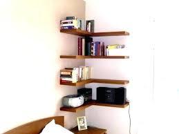 bedroom corner shelves impressive bedroom corner floating shelves