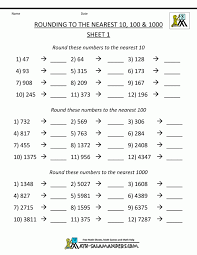 3rd Grade Math Estimation And Rounding Worksheets Pdf Third ...